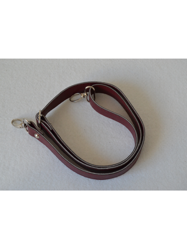 Leather Extended Strap-Claret Red