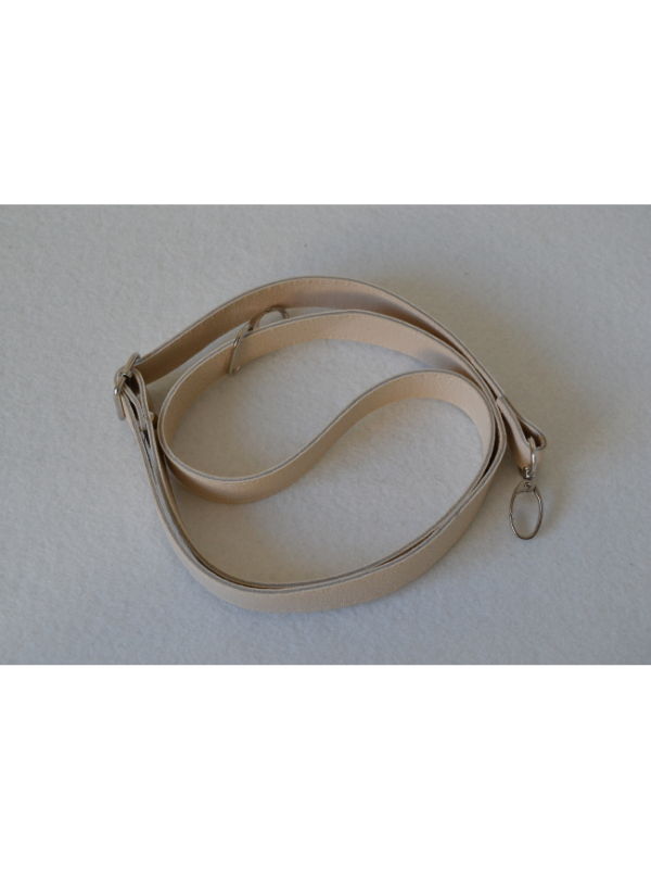 Leather Extended Strap-Cream