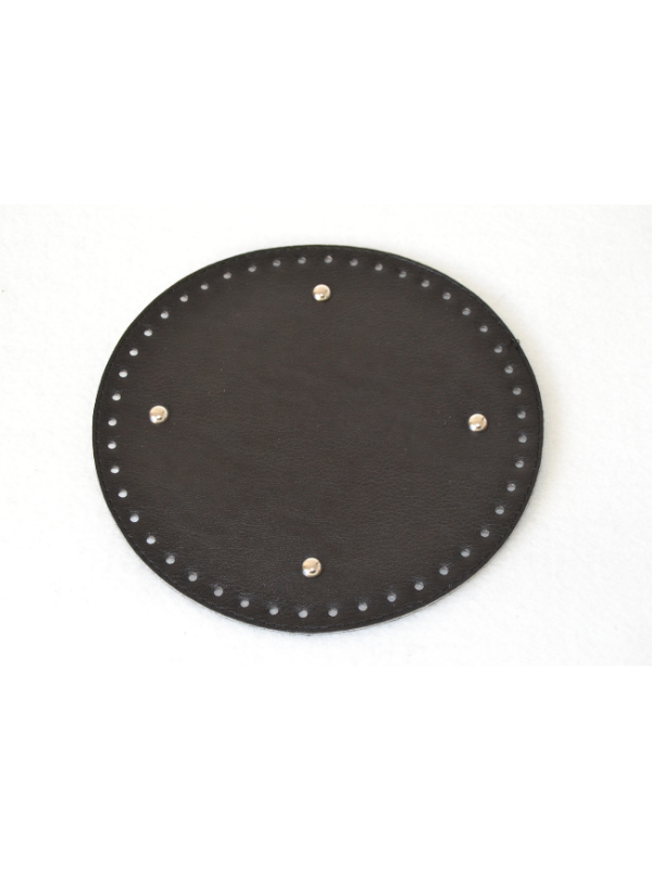 Leather Insoles-Black-Round