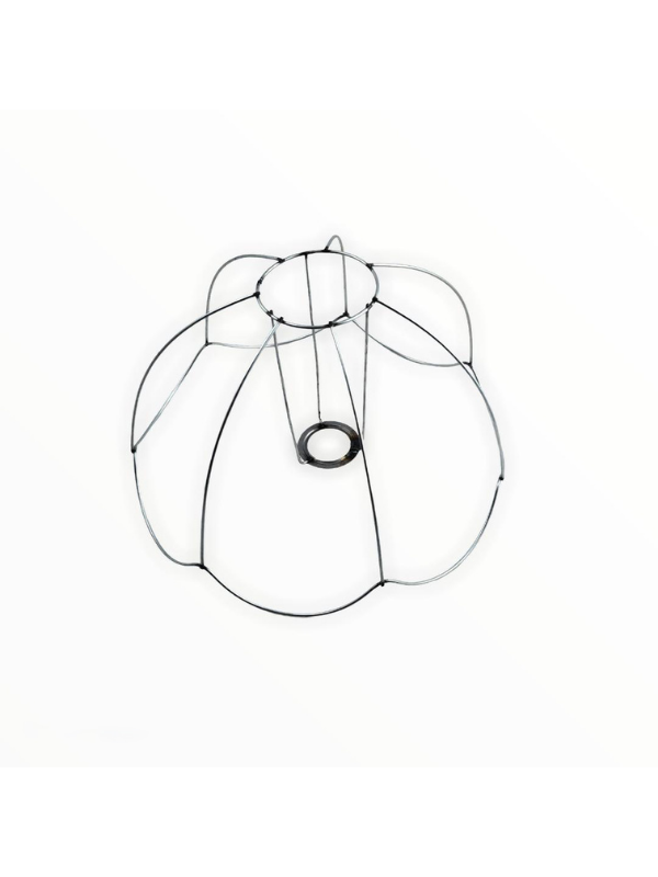Lampshade Wire Ceiling Model 33 cm Flat Curved