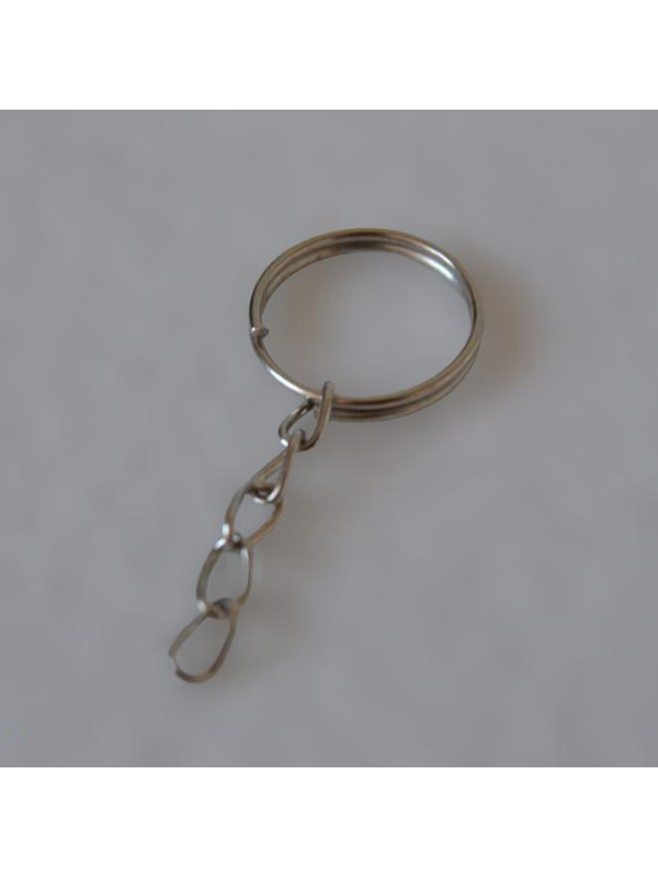Economic Silver Gray Chain Keychain