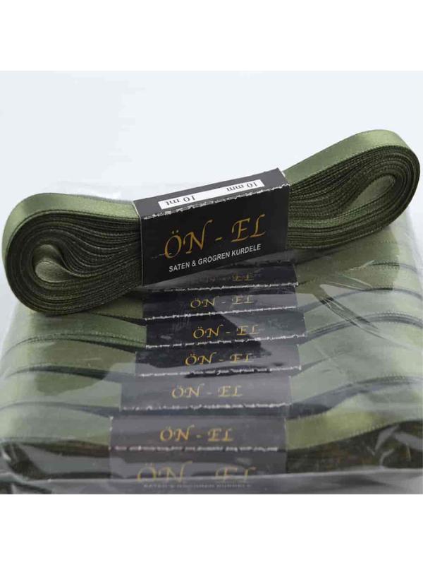 Khaki Green Satin Ribbon