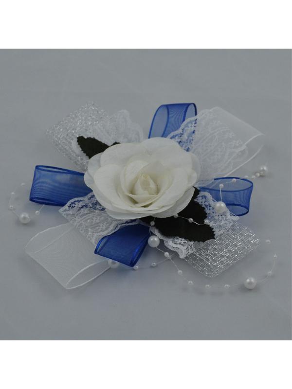 Bundle Ornament Navy Blue-White