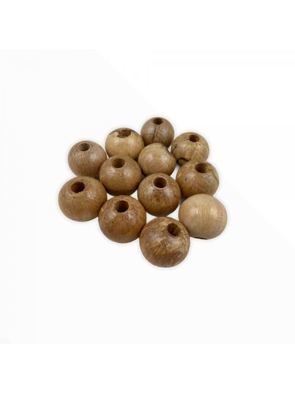 20 mm 10 Each Round Wood Beads
