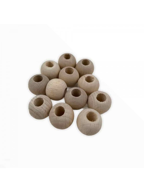 18 mm 10 pieces Bare Wood Beads