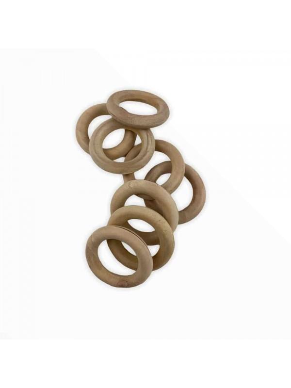 Amigurumi Wood Ring 4 cm