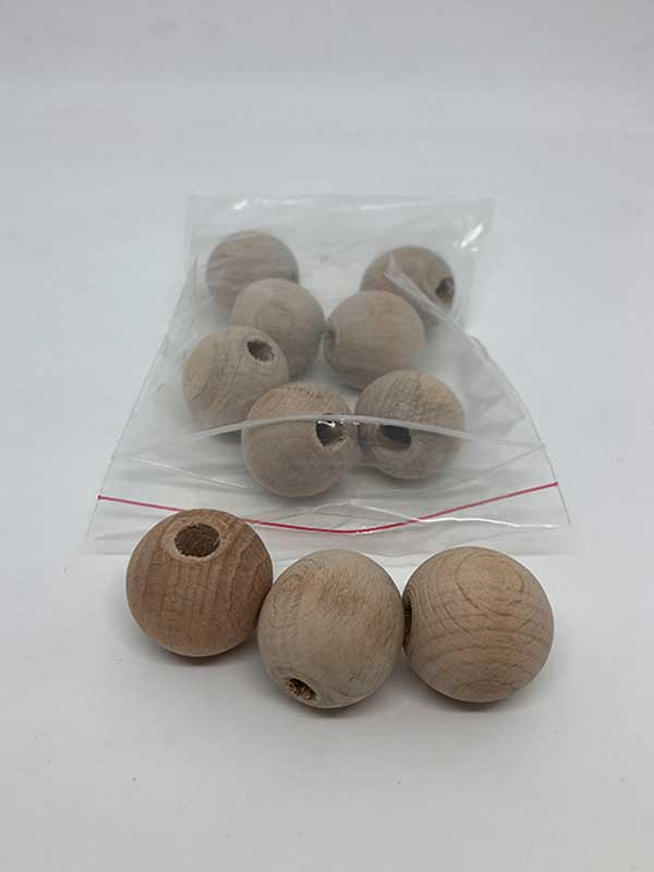 22 mm 10 Each Round Wood Beads