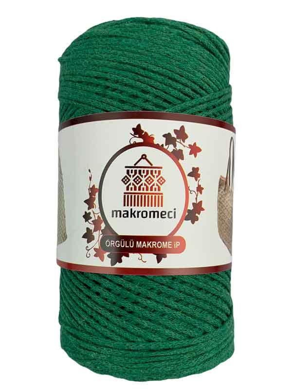 Cotton Knit Macrame-Benetton Green