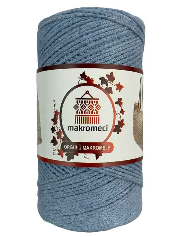 Cotton Knit Macrame-Baby Blue