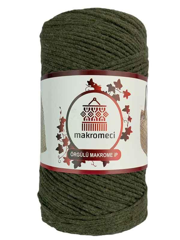 Cotton Knit Macrame-Khaki Green