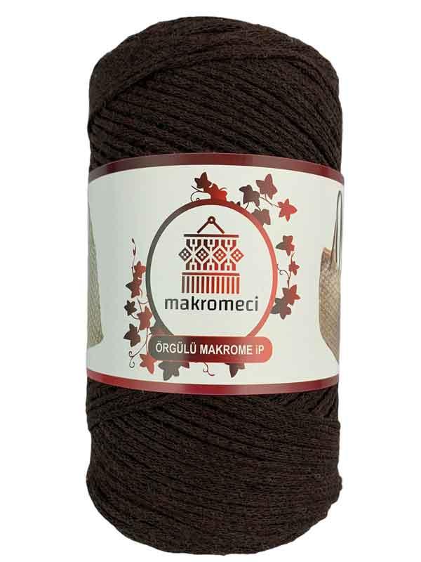 Cotton Knit Macrame-Dark Brown