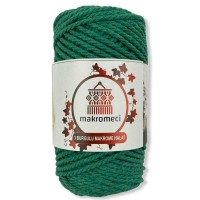 Macrame Rope 3 mm Double Twisted-Benetton Green