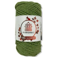 Macrame Rope 3 mm Double Twisted-Apple