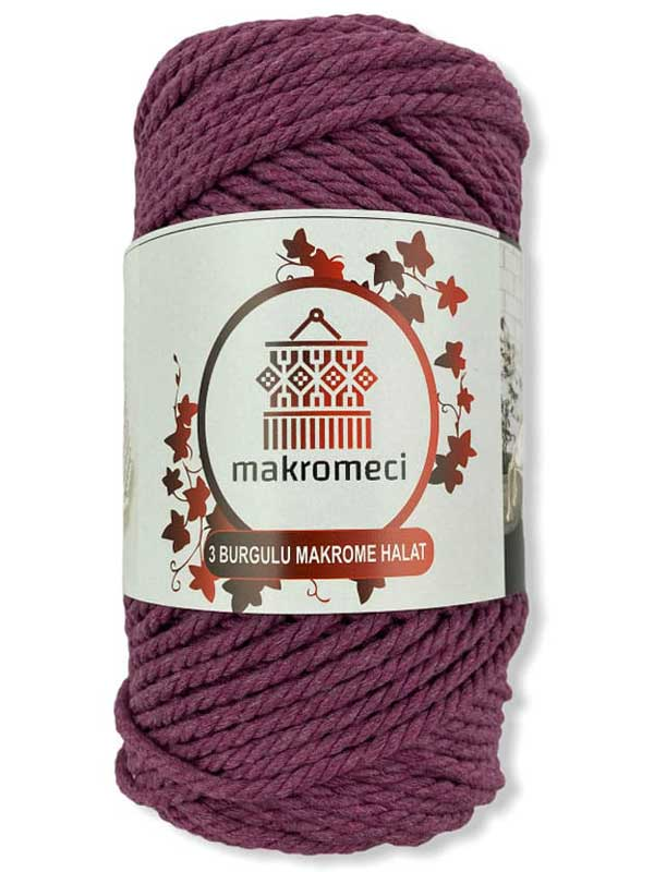 Macrame Rope 3 mm Double Twisted-Dried roses