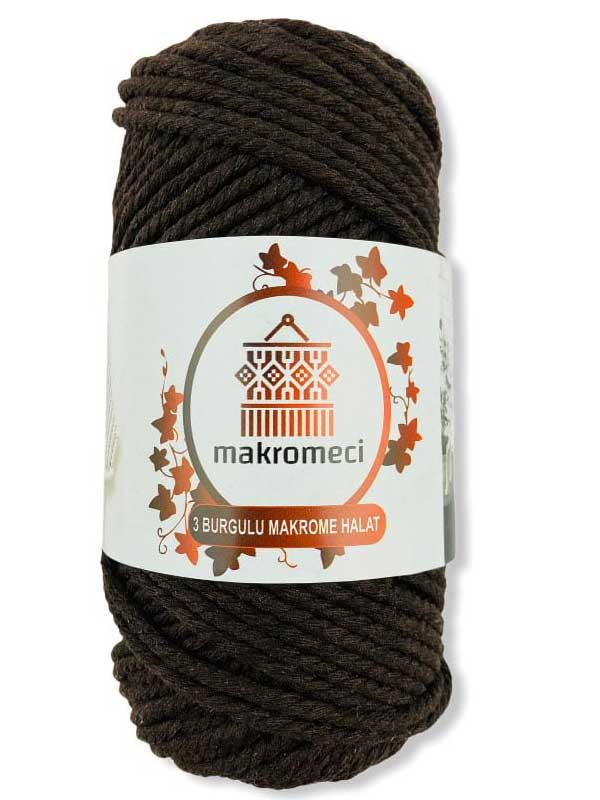 Macrame Rope 3 mm Double Twisted-Dark Brown
