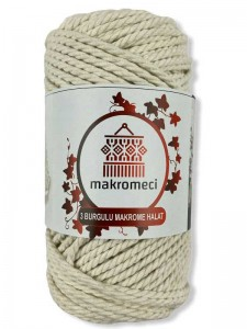 Macrame Rope 3 mm Double Twisted-Naturel