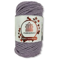 Macrame Rope 3 mm Double Twisted-Lilac
