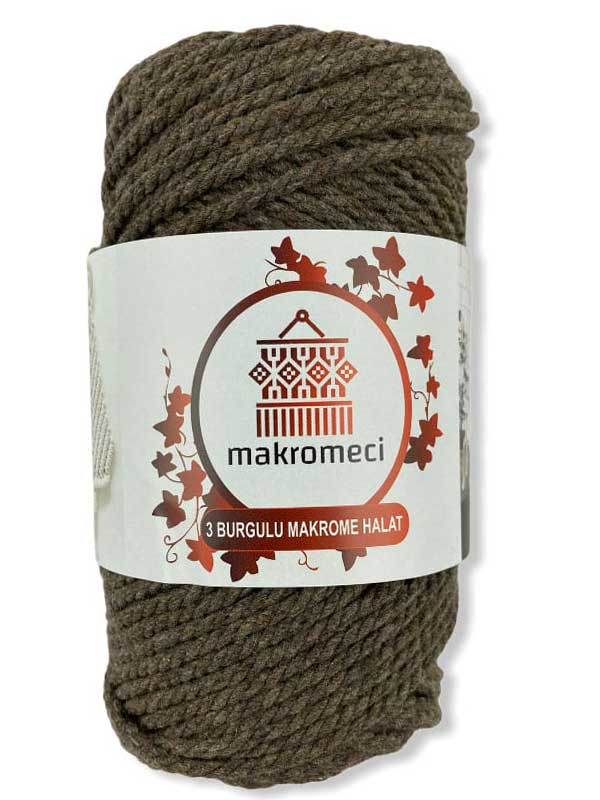Macrame Rope 3 mm Double Twisted-Latte
