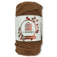 Macrame Rope 3 mm Double Twisted-Tan
