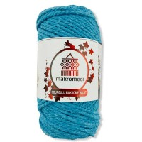 Macrame Rope 3 mm Double Twisted-Turquoise