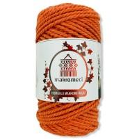 Macrame Rope 3 mm Double Twisted-Orange