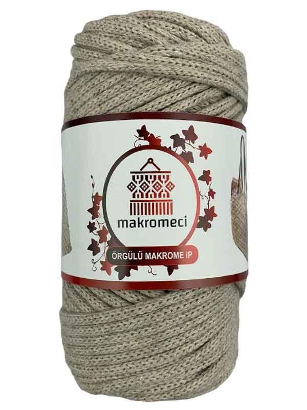 Cotton Braided Macrame 3 mm-Beige