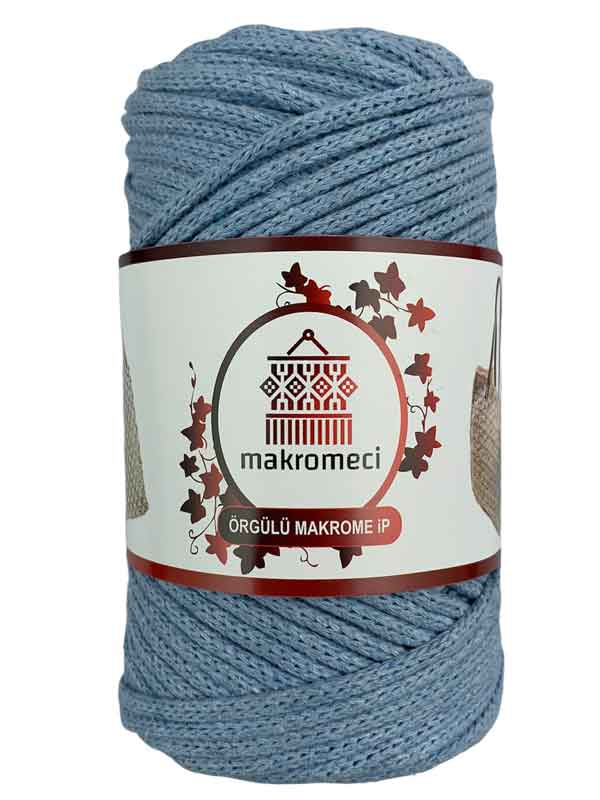 Cotton Braided Macrame 3 mm-Baby Blue