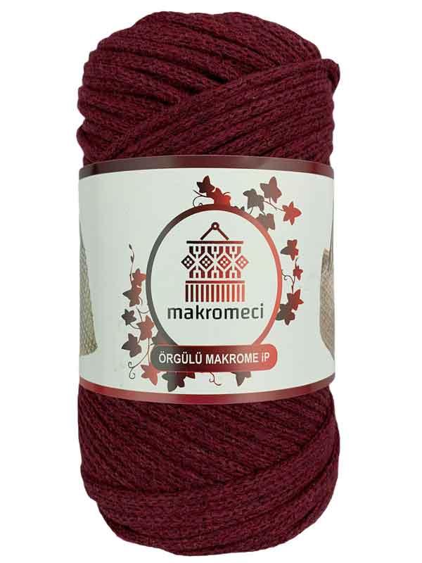 Cotton Braided Macrame 3 mm-Burgundy