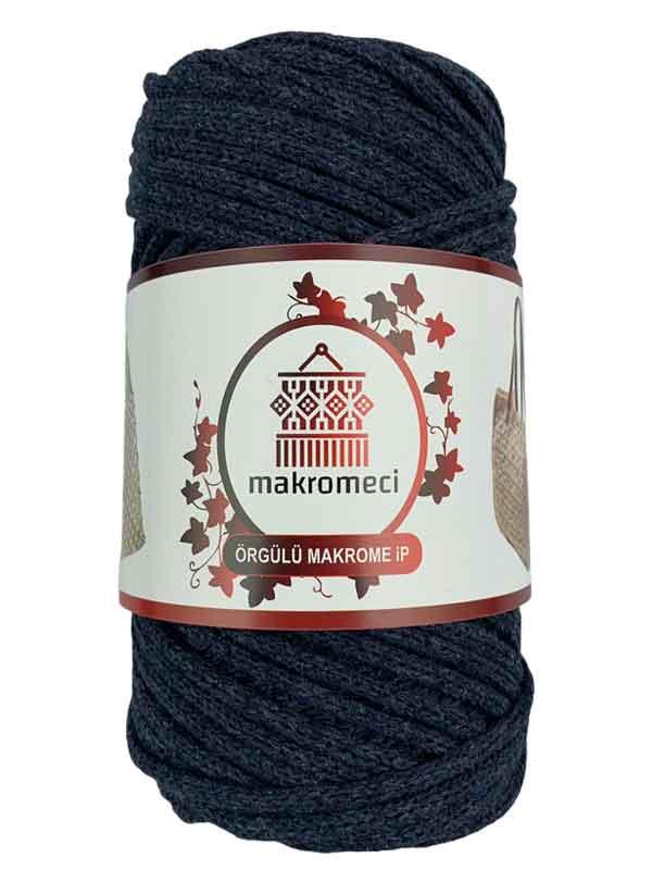 Cotton Braided Macrame 3 mm-Indigo