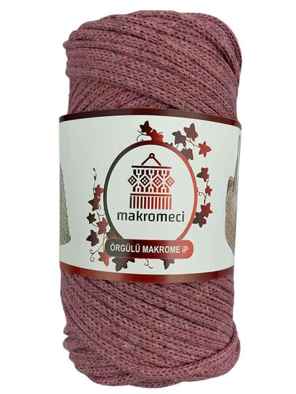 Cotton Braided Macrame 3 mm-Dark Pink