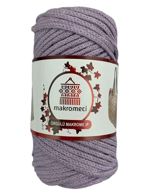 Cotton Braided Macrame 3 mm-Lilac