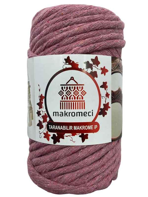 Single Twist Macrame 4 mm-Dark Pink