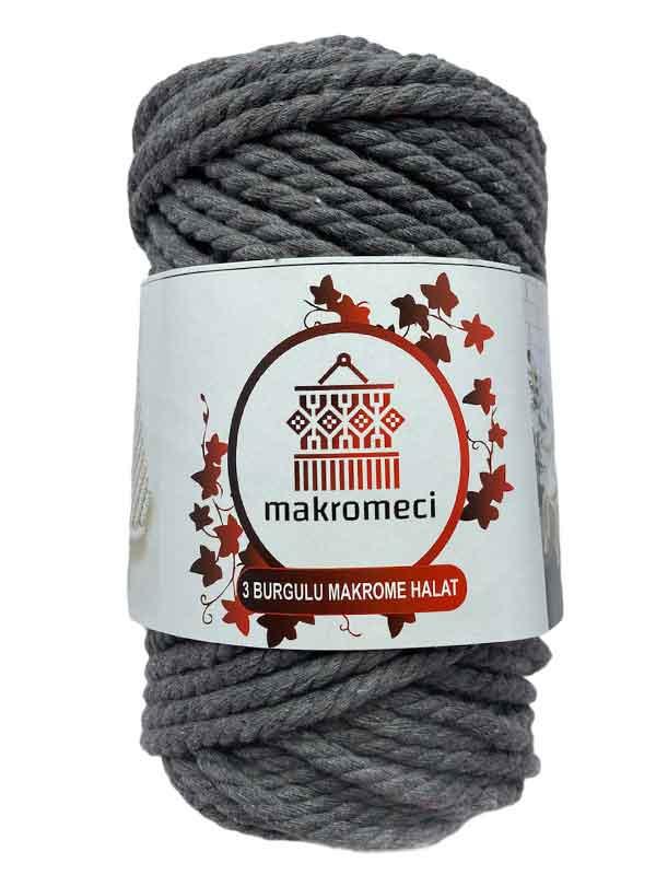 Macrame Rope 5 mm 3PLY-Grey