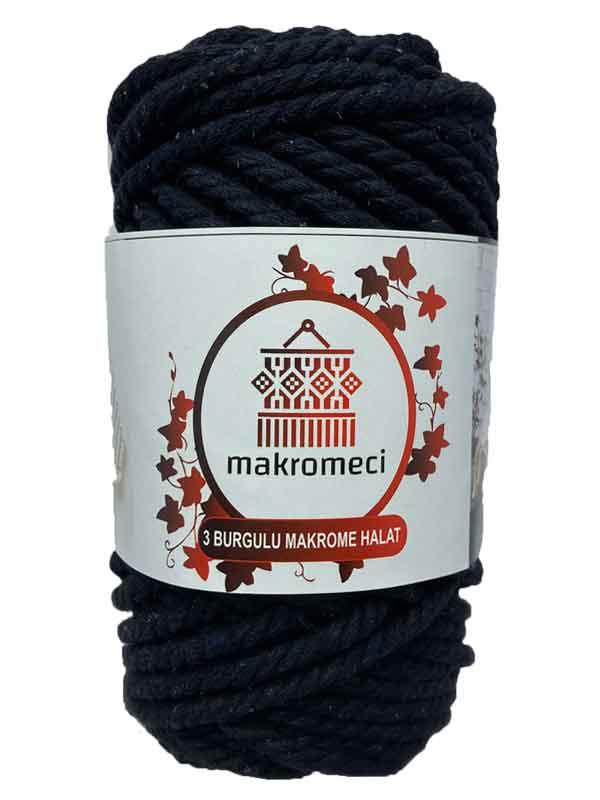 Macrame Rope 5 mm 3PLY-Black