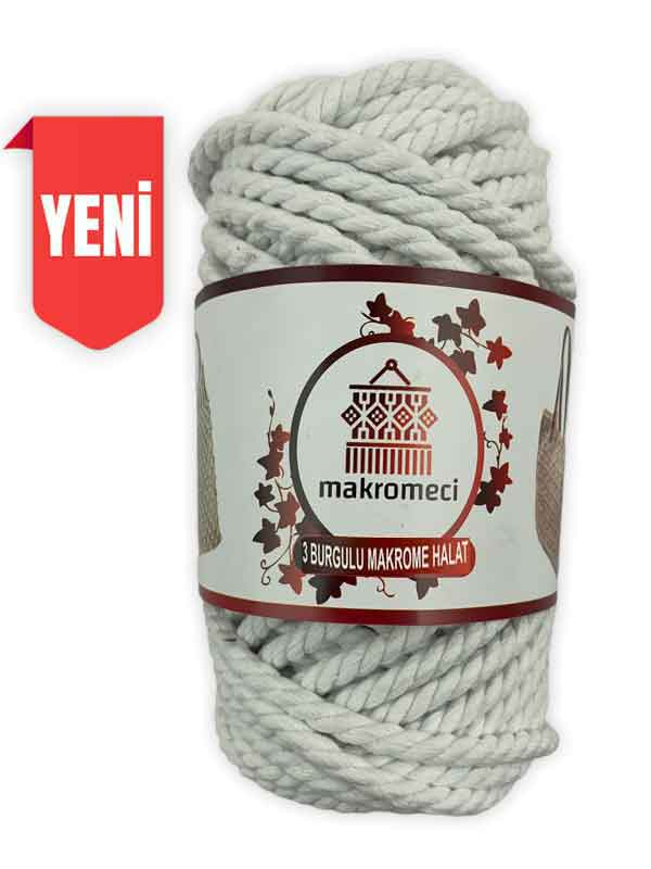 Macrame Rope 5 mm 3PLY-White