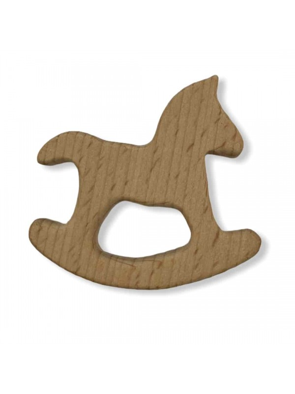 Natural Wooden Tooth Scratchy-Horse