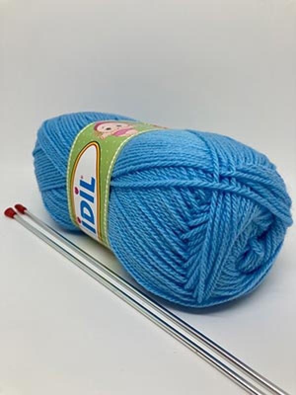 İDİL Baby Knitting Yarn-Baby Blue