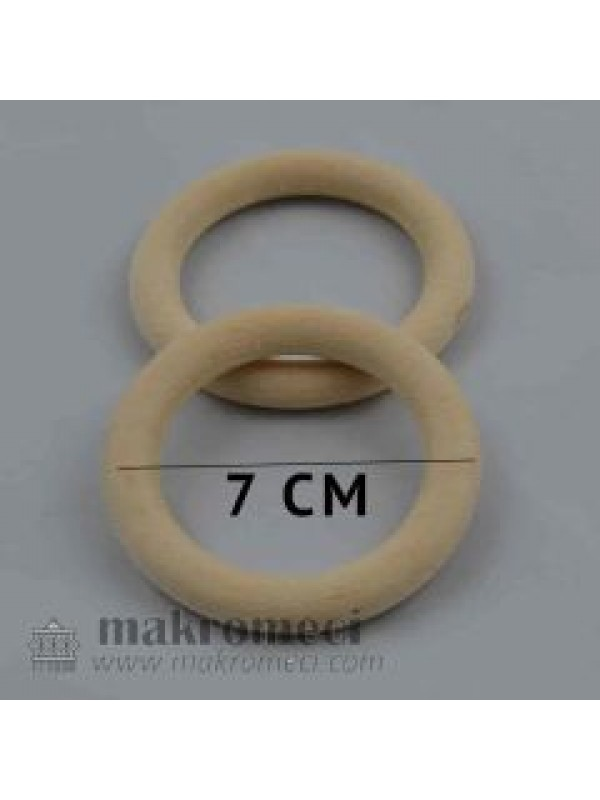 Amigurumi Wood Ring 7 cm
