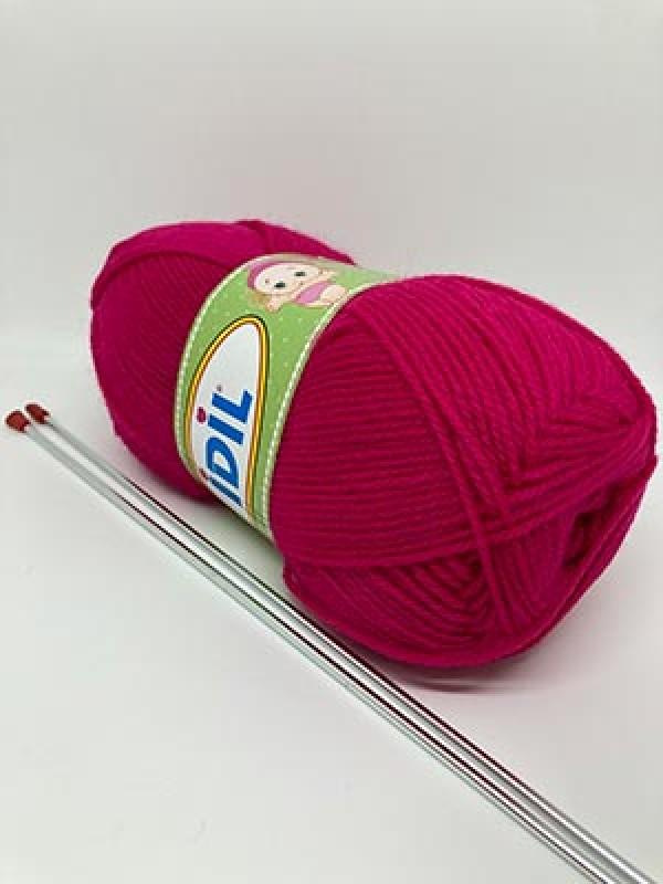 İDİL Baby Knitting Yarn-Fuchsia