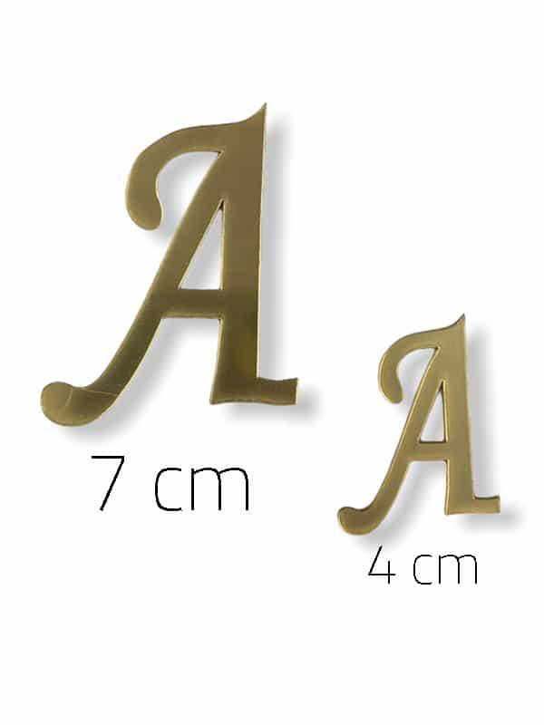 Gold Plexi Letter (A)