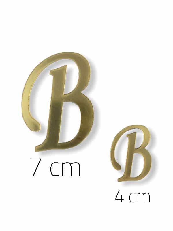 Gold Plexi Letter (B)