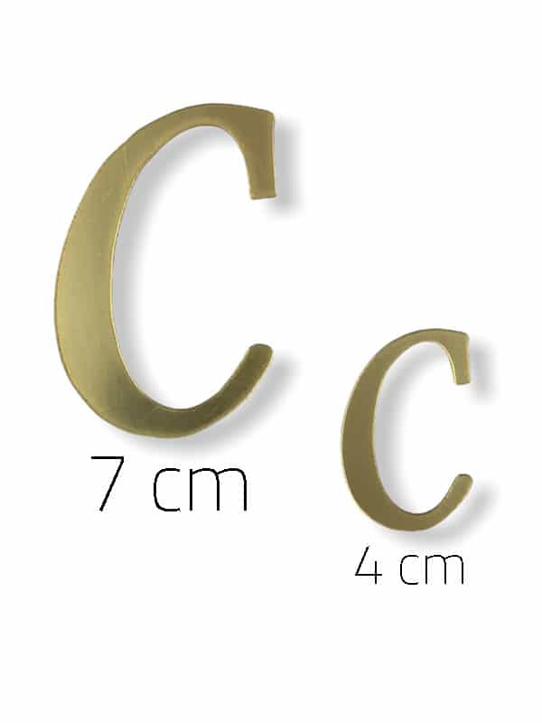 Gold Plexi Letter (C)