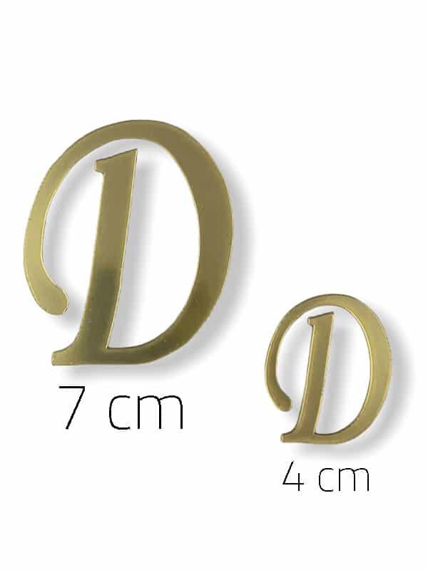 Gold Plexi Letter (D)