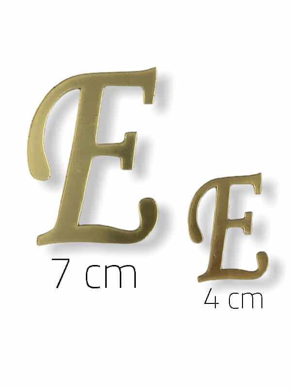 Gold Plexi Letter (E)