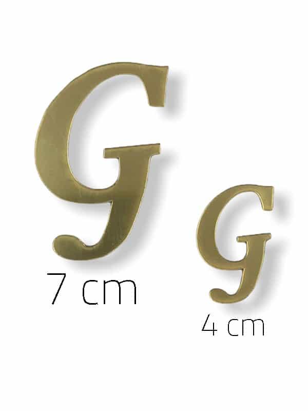 Gold Plexi Letter (G)
