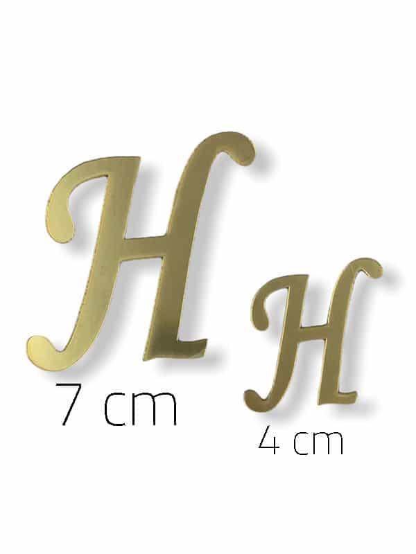 Gold Plexi Letter (H)