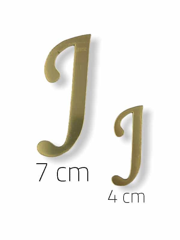 Gold Plexi Letter (J)