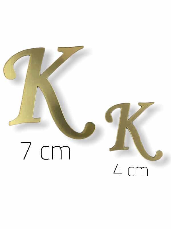 Gold Plexi Letter (K)