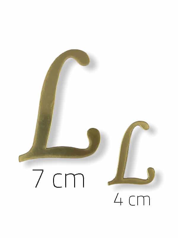 Gold Plexi Letter (L)