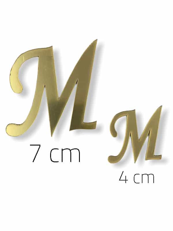 Gold Plexi Letter (M)